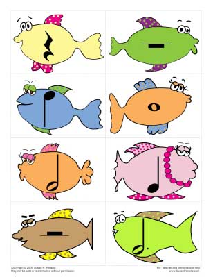 Fish Rhythm Cards