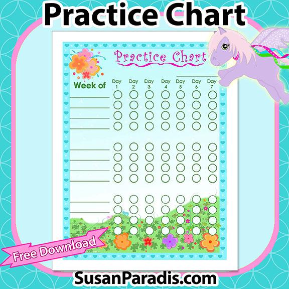 Flower Practice Chart
