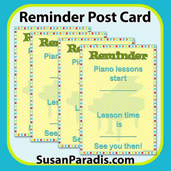 Reminder Postcard