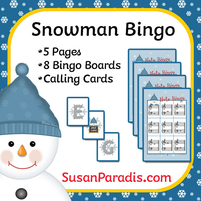 picture relating to Winter Bingo Cards Free Printable called Snowman Bingo Sport and Borderless Printing - Susan Paradis