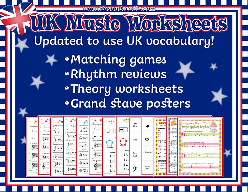 Crotchets Quavers And Minimsoh My Worksheets With Uk