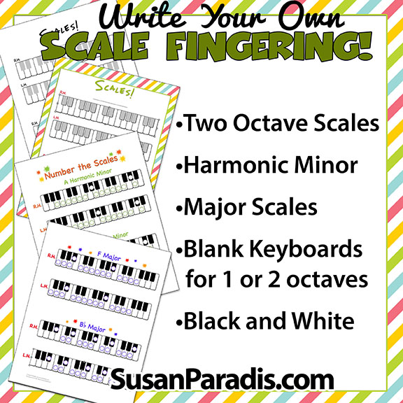 write your own scale fingering