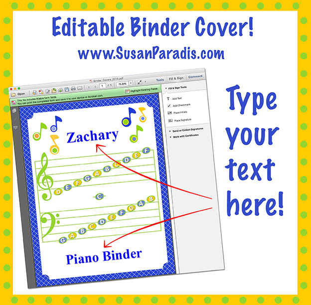 Editable Binder Cover