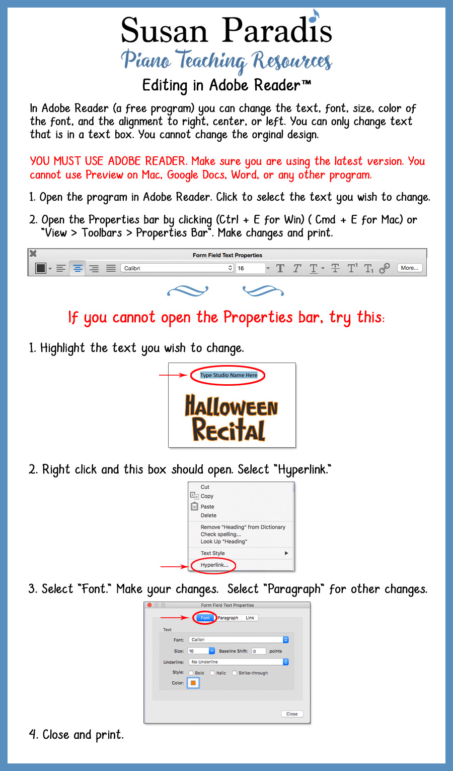 How to edit text fields in Adobe Reader