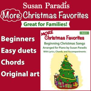 Christmas book for beginning piano students.