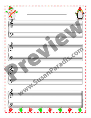 This cute bundle of decorated Holiday Staff Paper will inspire your beginning composer to write their own music!